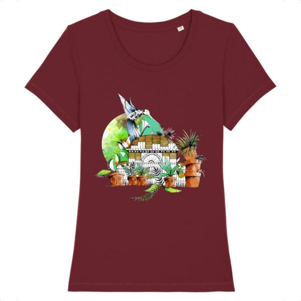 T-shirt Femme Motif Couleur – 100% Coton Bio