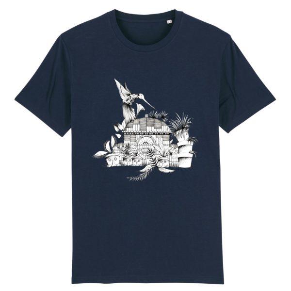 T-shirt Homme Motif N&B – 100% Coton Bio
