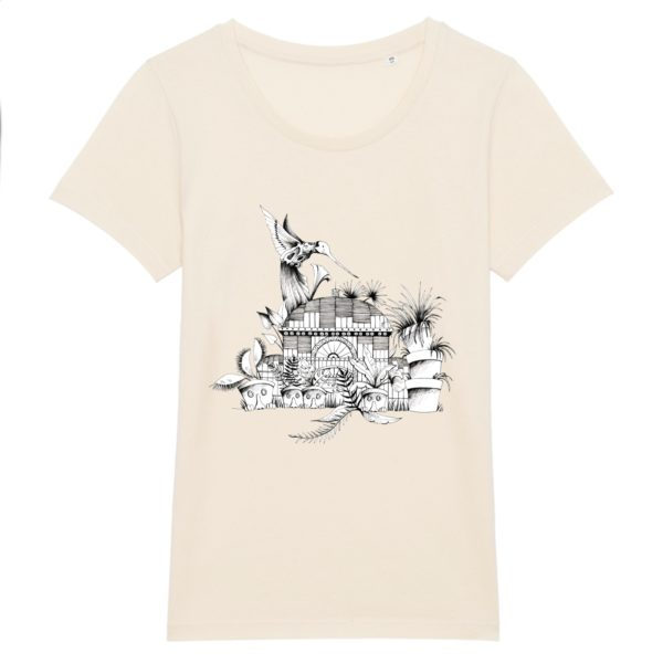 T-shirt Femme Motif N&B – 100% Coton Bio