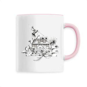 Mug Motif N&B – Céramique