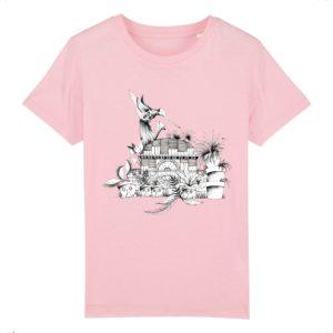 T-shirt Enfant Motif N&B – 100% Coton Bio